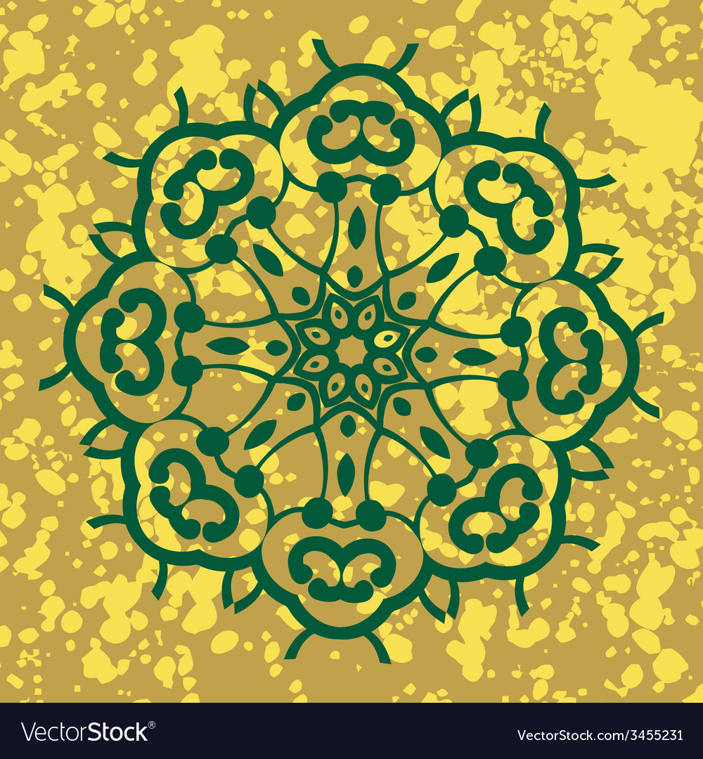 Indian ornament kaleidoscopic floral pattern vector | Price: 1 Credit (USD $1)