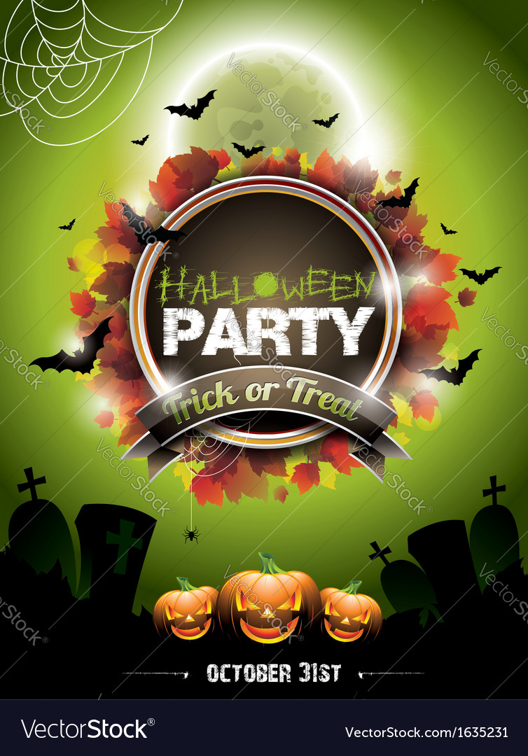On a halloween party theme vector | Price: 1 Credit (USD $1)
