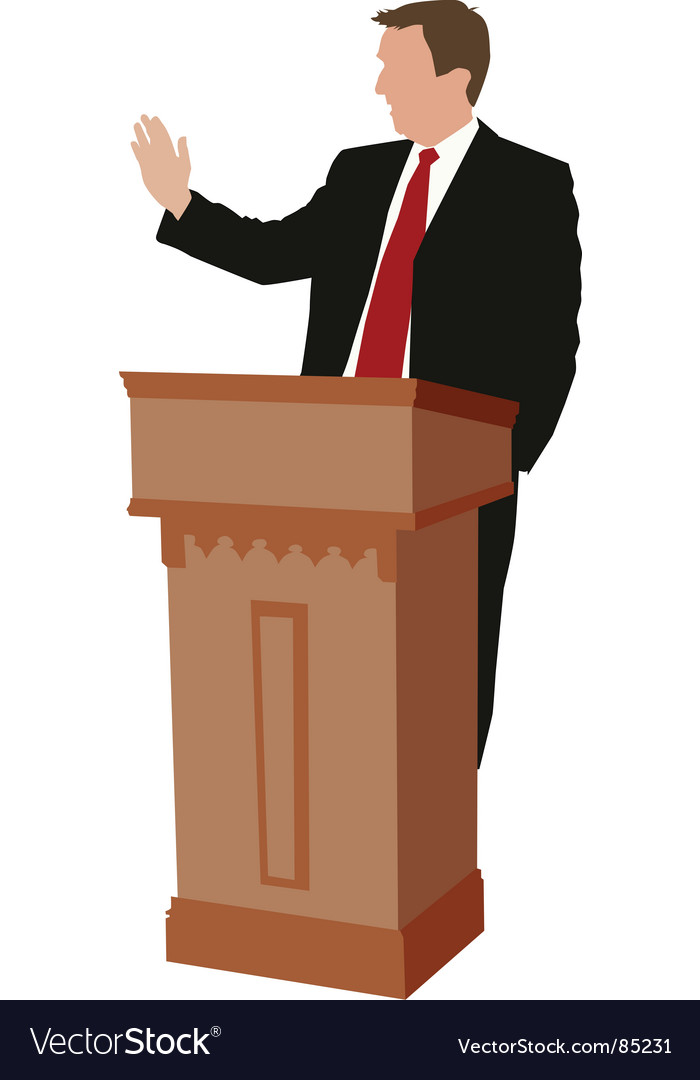 Public speaker vector | Price: 1 Credit (USD $1)
