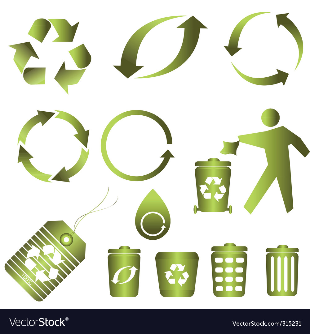 Recycling icons vector | Price: 1 Credit (USD $1)