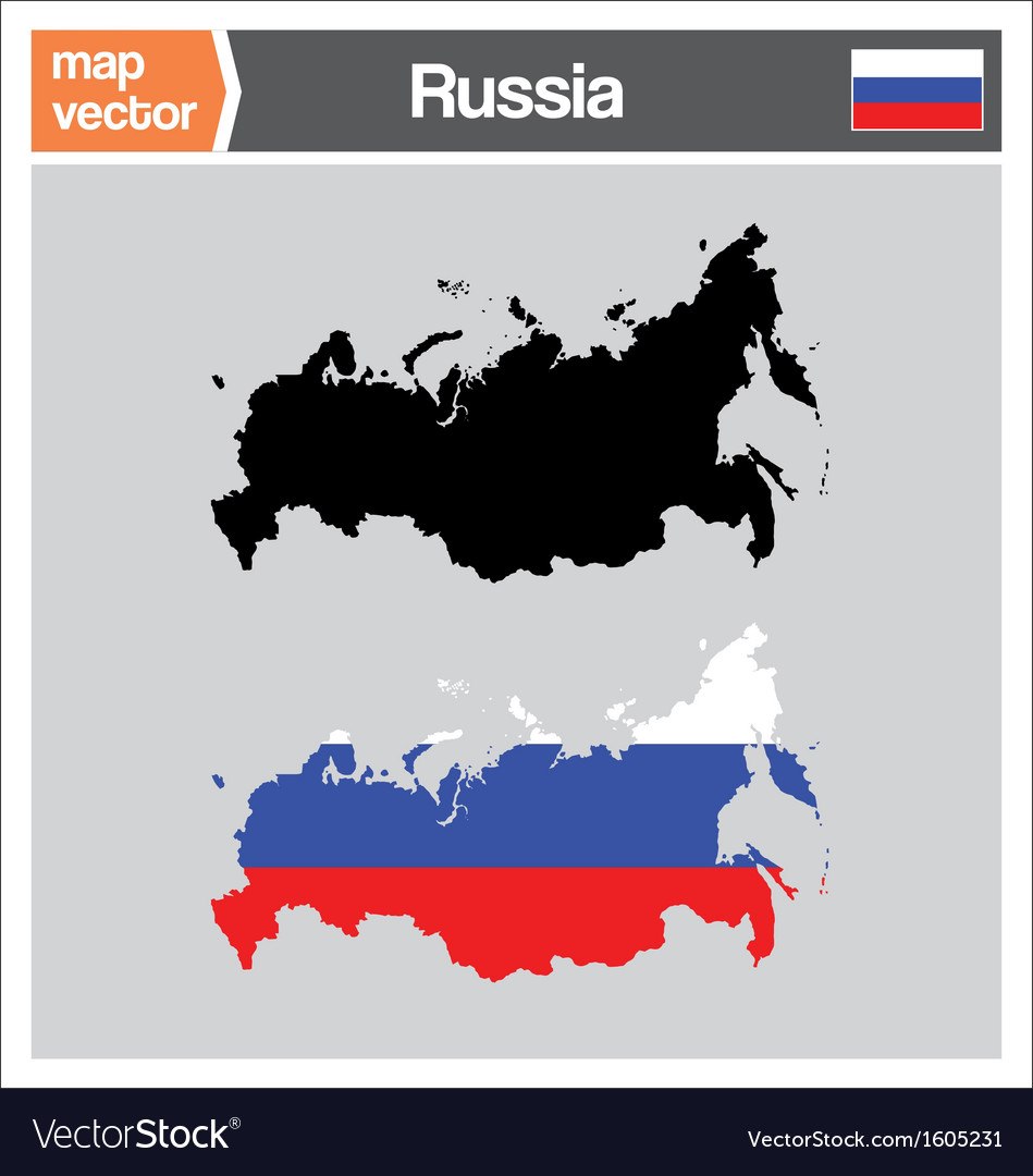 Russia map vector   Price: 1 Credit (USD $1)