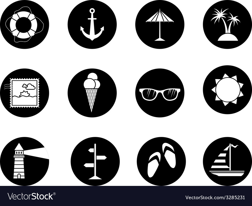 Set of 12 round icons vector | Price: 1 Credit (USD $1)