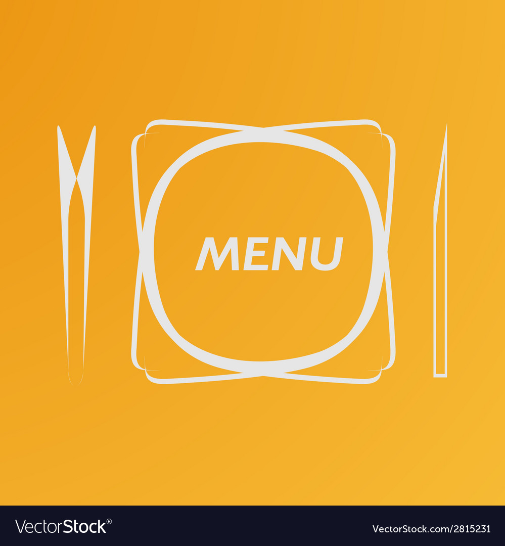 Simple flat cover cafe menu eps vector | Price: 1 Credit (USD $1)