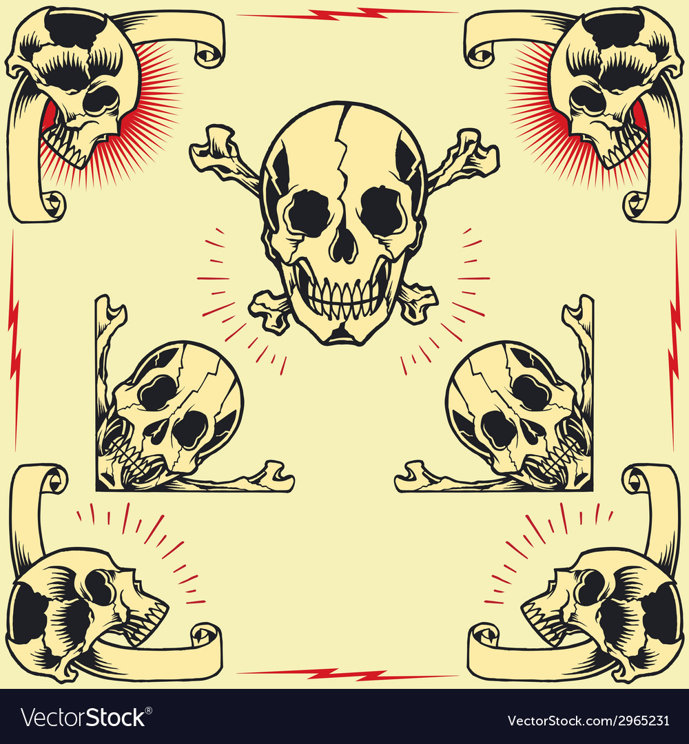 Skull frames vector | Price: 1 Credit (USD $1)