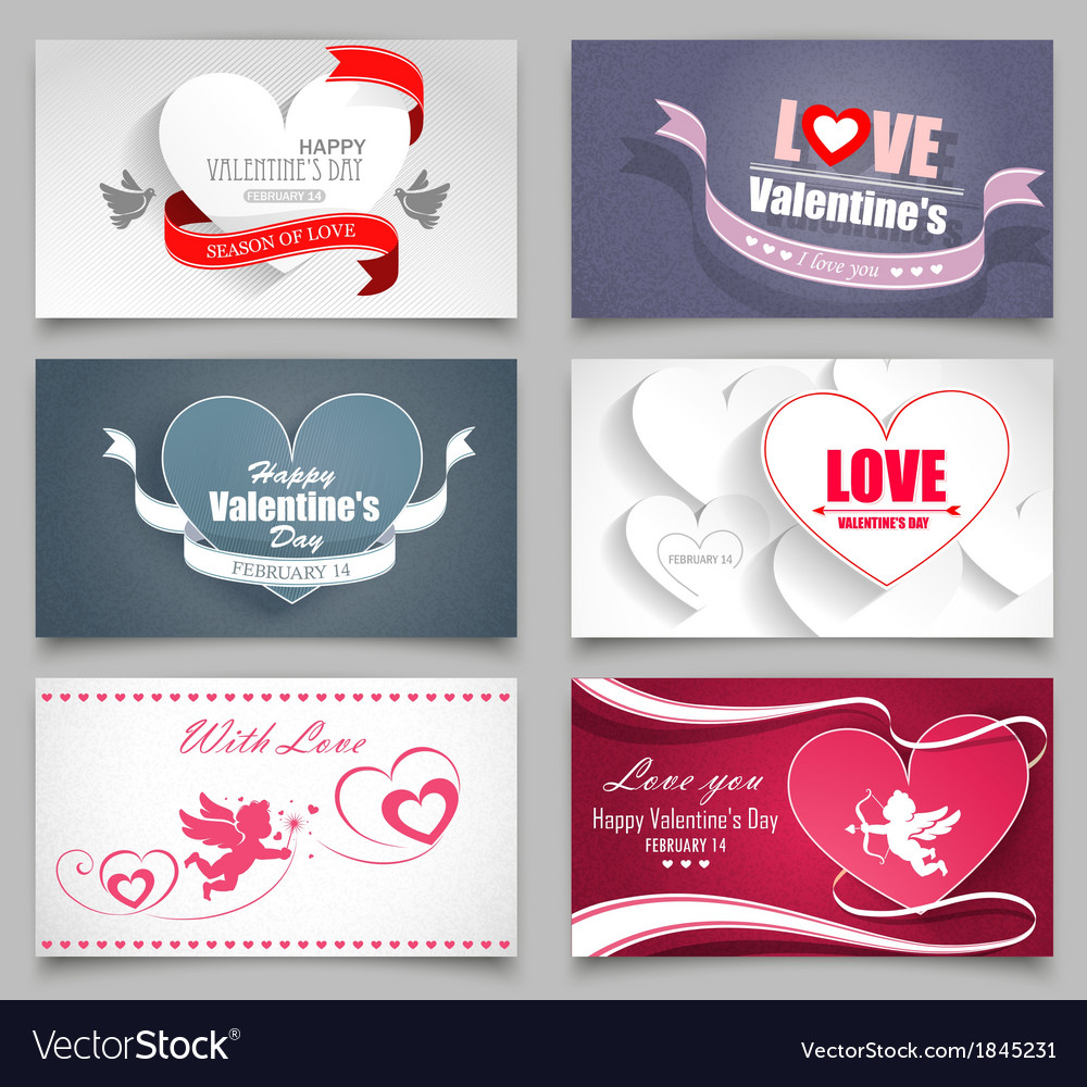 Valentines day cards vector | Price: 1 Credit (USD $1)