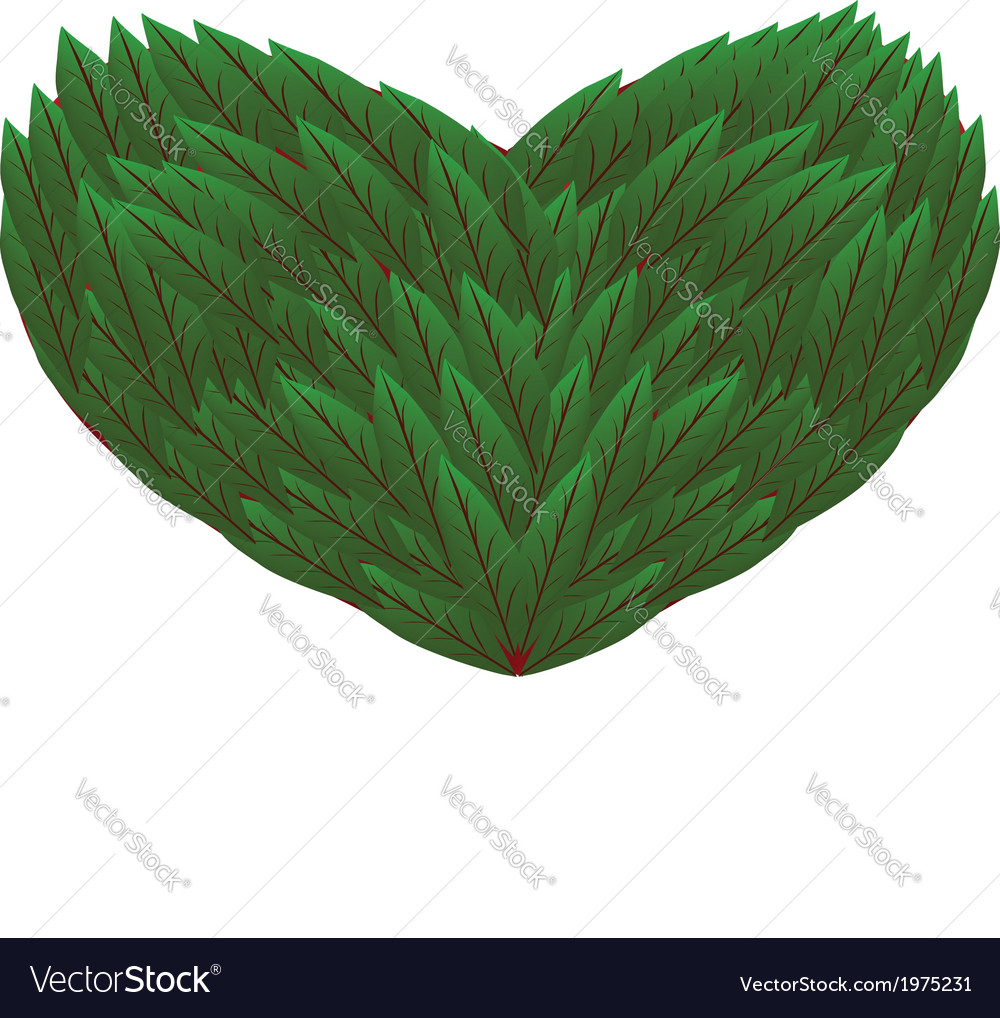 Vi leaves heart vector | Price: 1 Credit (USD $1)