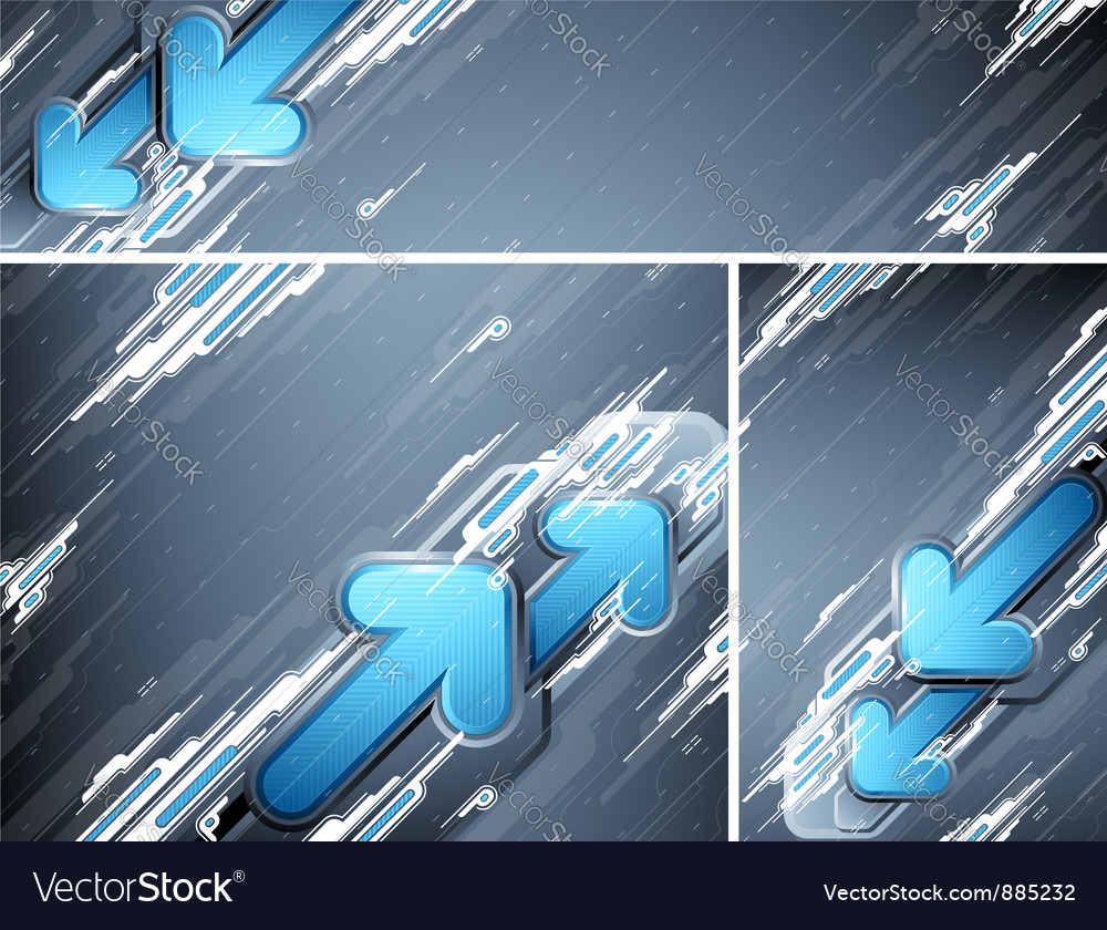 Abstract futuristic banners vector | Price: 1 Credit (USD $1)