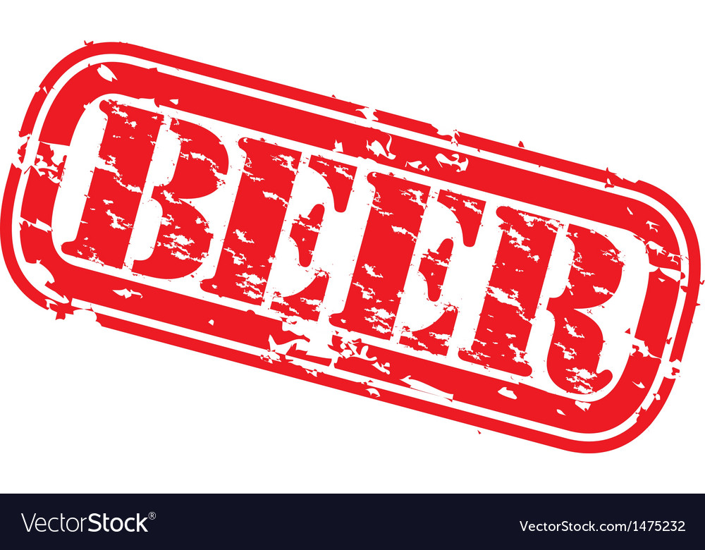 Beer stamp vector | Price: 1 Credit (USD $1)