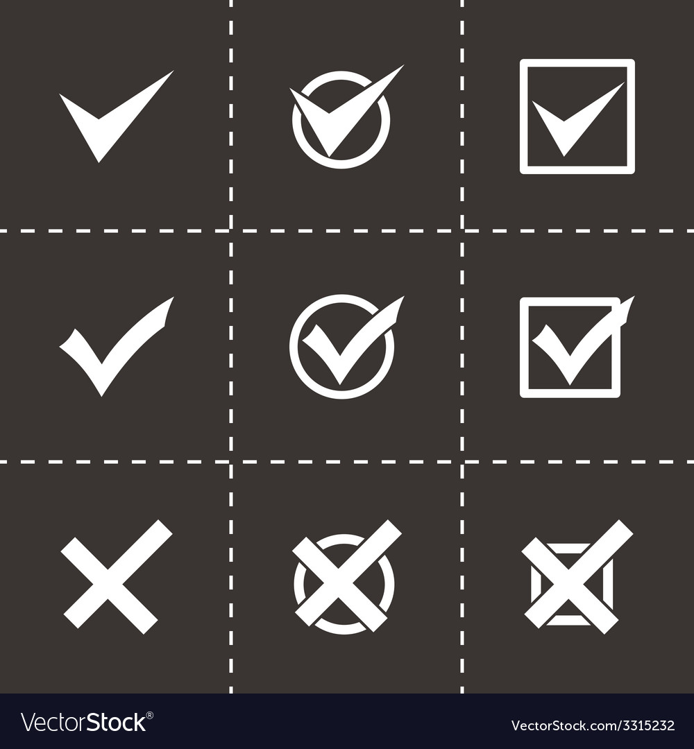 Black check marks icon set vector | Price: 1 Credit (USD $1)