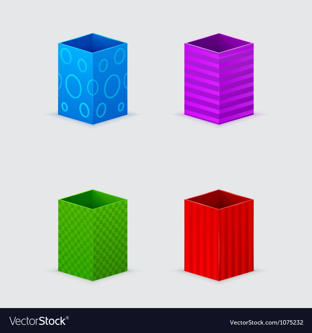 Four cones gift boxes vector | Price: 1 Credit (USD $1)