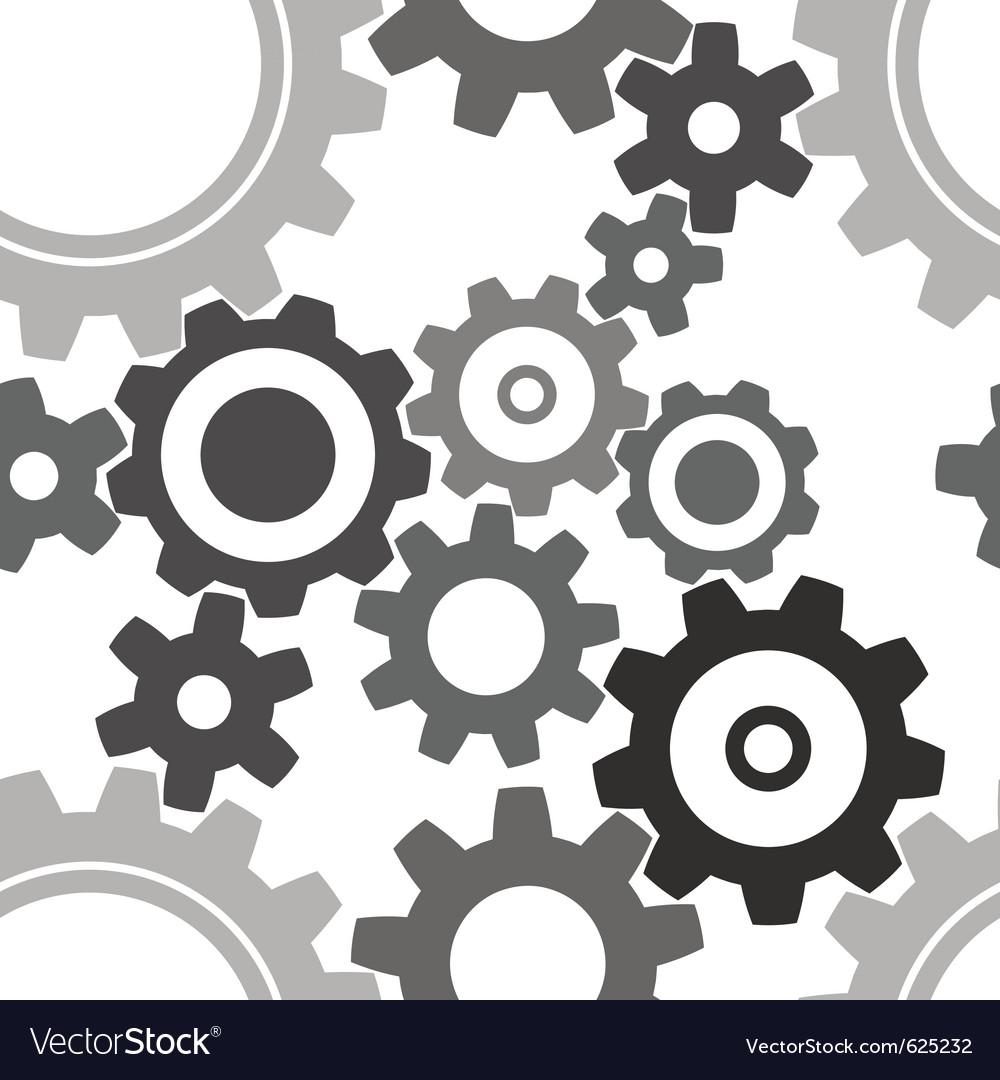 Seamless cogwheel patterns vector | Price: 1 Credit (USD $1)