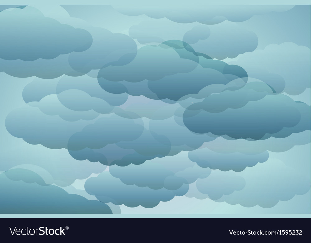 Stylized blue clouds vector | Price: 1 Credit (USD $1)