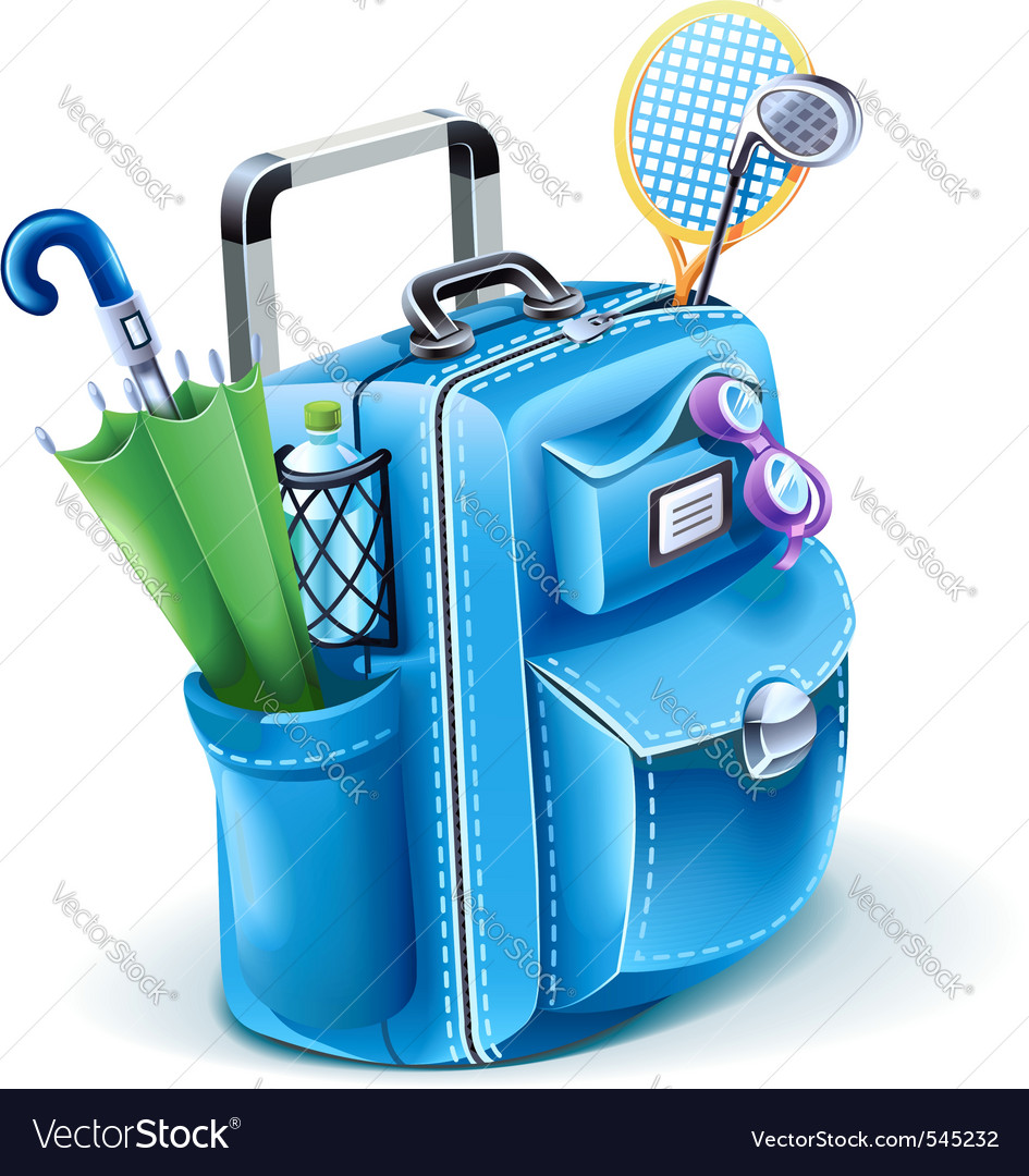 Travel bag vector | Price: 3 Credit (USD $3)