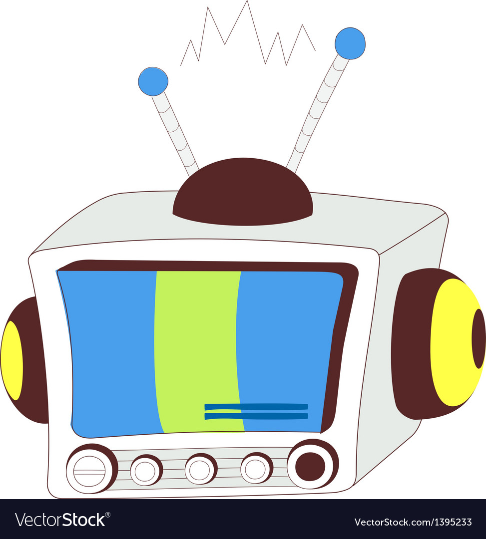 A view of television vector | Price: 1 Credit (USD $1)
