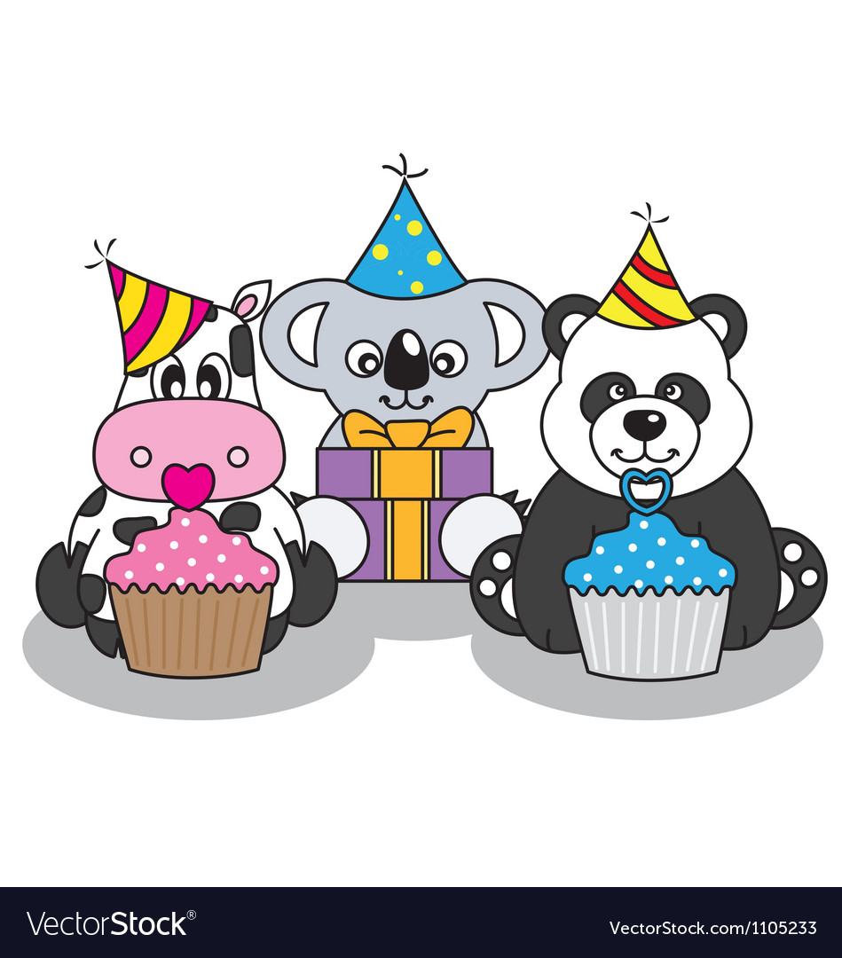 Animals having a party vector | Price: 1 Credit (USD $1)