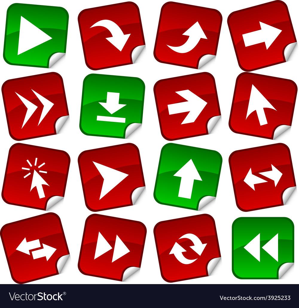 Arrows stickers vector | Price: 1 Credit (USD $1)