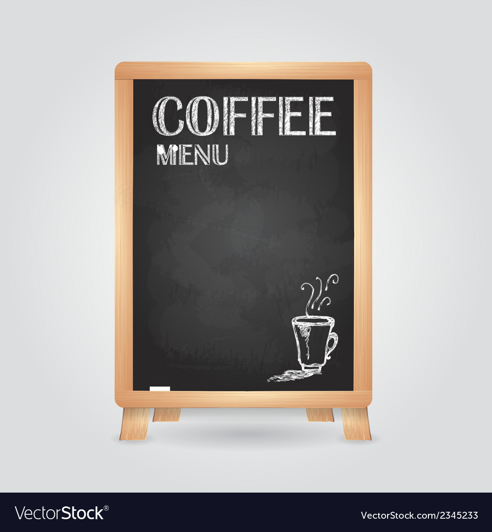 Chalk drawings retro typography coffee vector | Price: 1 Credit (USD $1)