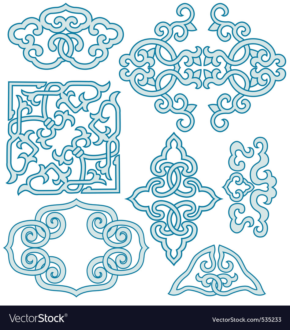 Chinese scroll ornament vector | Price: 1 Credit (USD $1)
