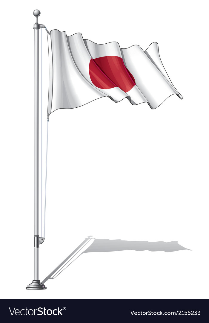 Flag pole japan vector | Price: 1 Credit (USD $1)