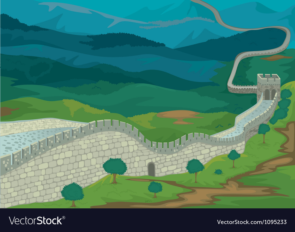 The great wall of china vector | Price: 1 Credit (USD $1)