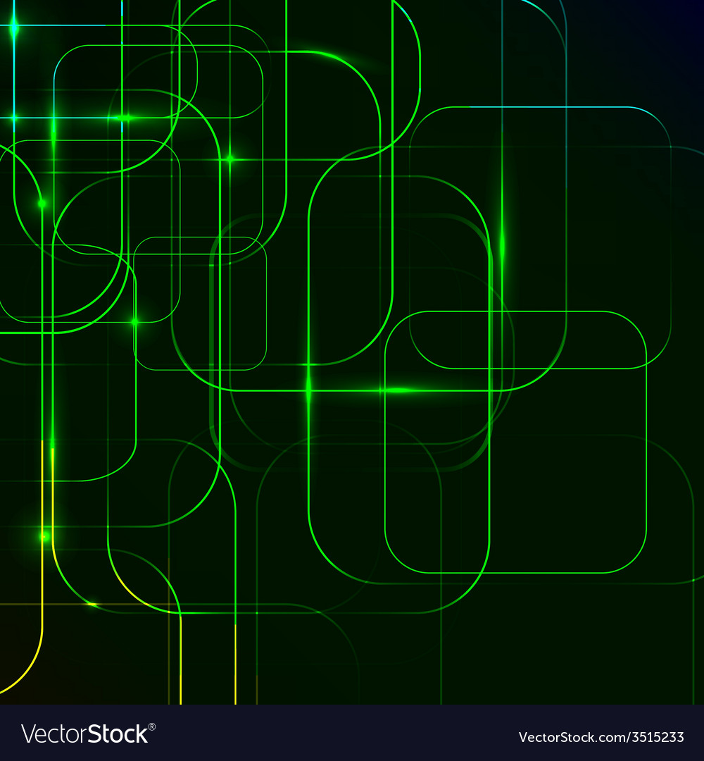 Green abstract background of digital technologies vector | Price: 1 Credit (USD $1)