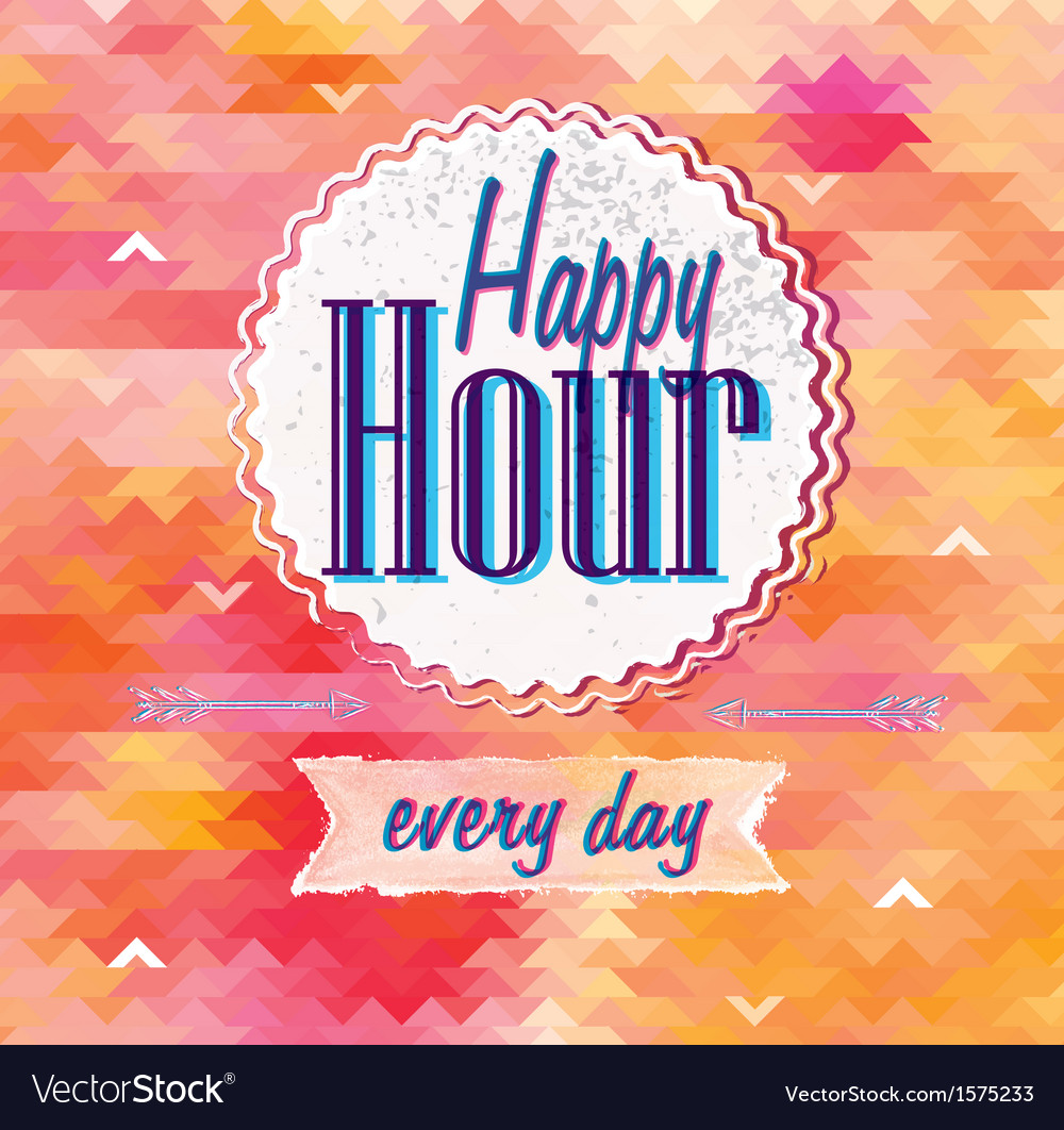 Happy hour vector | Price: 1 Credit (USD $1)