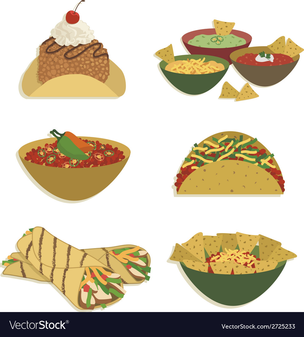 Mexican food vector | Price: 1 Credit (USD $1)