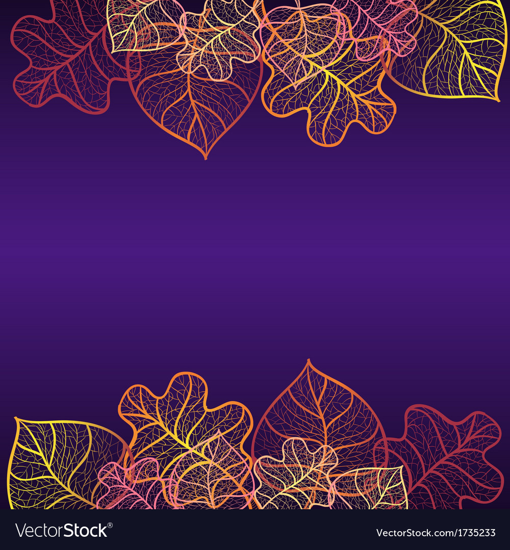 Ornamental background with art autumn leaves vector | Price: 1 Credit (USD $1)