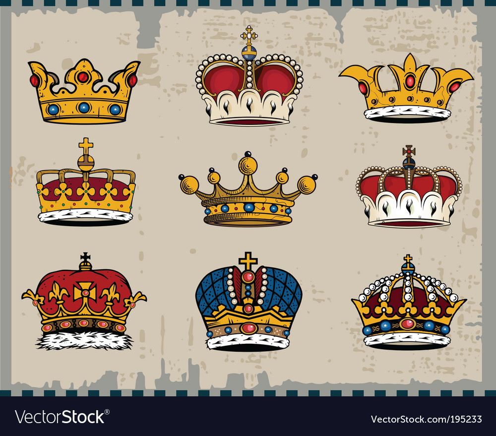 Royal crowns vector | Price: 3 Credit (USD $3)