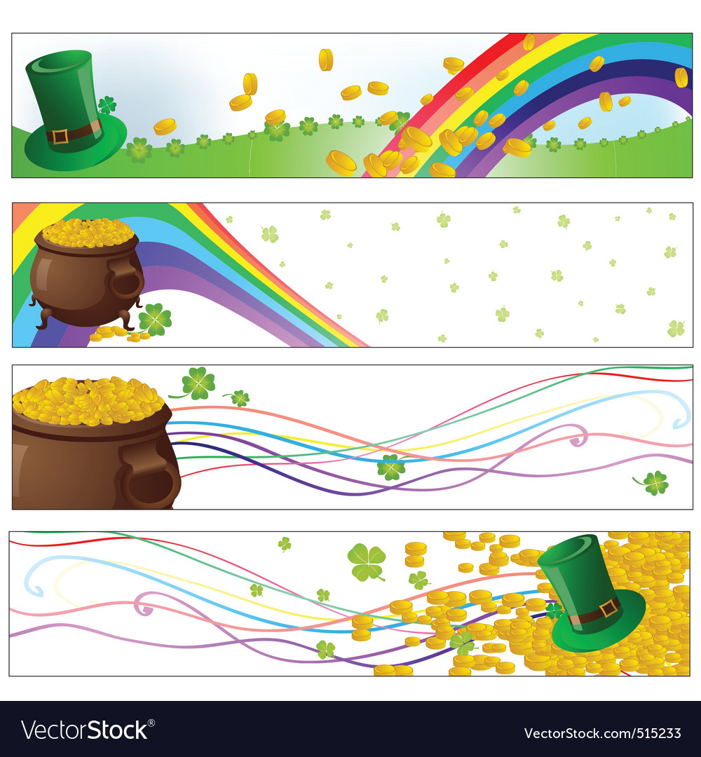 Saint patrick day party banners vector | Price: 1 Credit (USD $1)