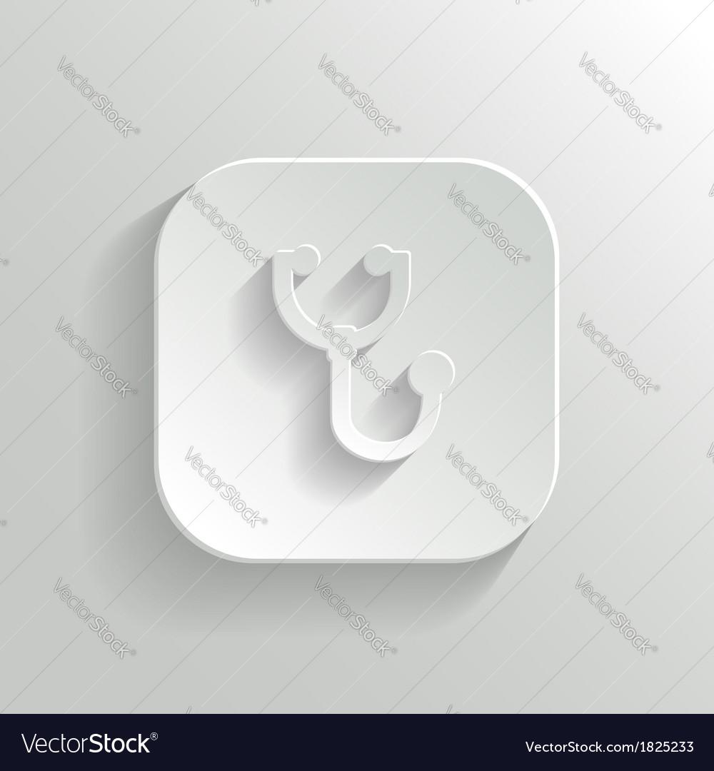 Stethoscope icon - white app button vector | Price: 1 Credit (USD $1)