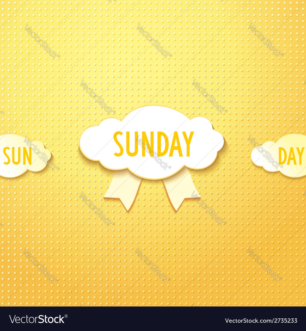 Sunday vector | Price: 1 Credit (USD $1)