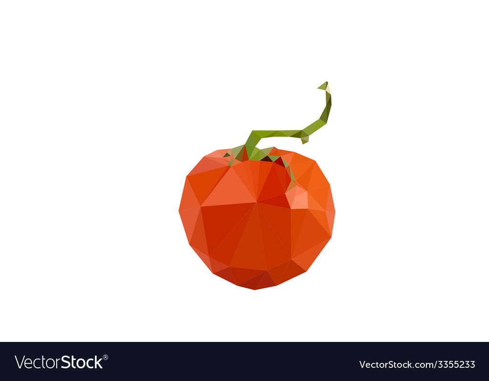 Tomato on white background geometric vector | Price: 1 Credit (USD $1)