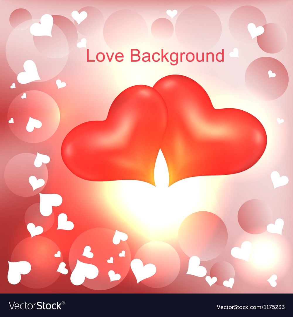 Two lovers heart vector | Price: 1 Credit (USD $1)