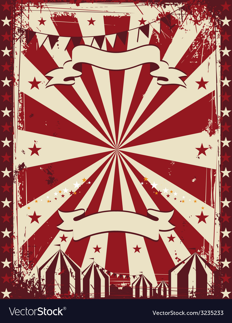 Vintage circus poster background advertising vector | Price: 1 Credit (USD $1)