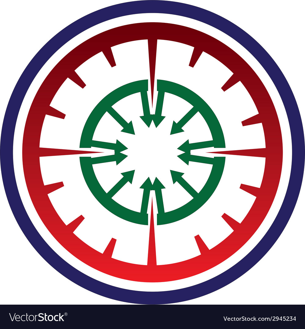 Abstract gear arrow circle vector | Price: 1 Credit (USD $1)