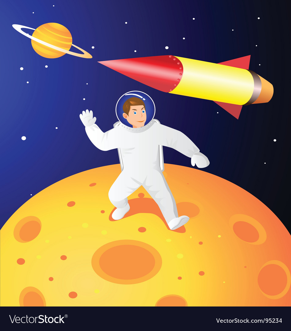 Astronaut vector | Price: 3 Credit (USD $3)