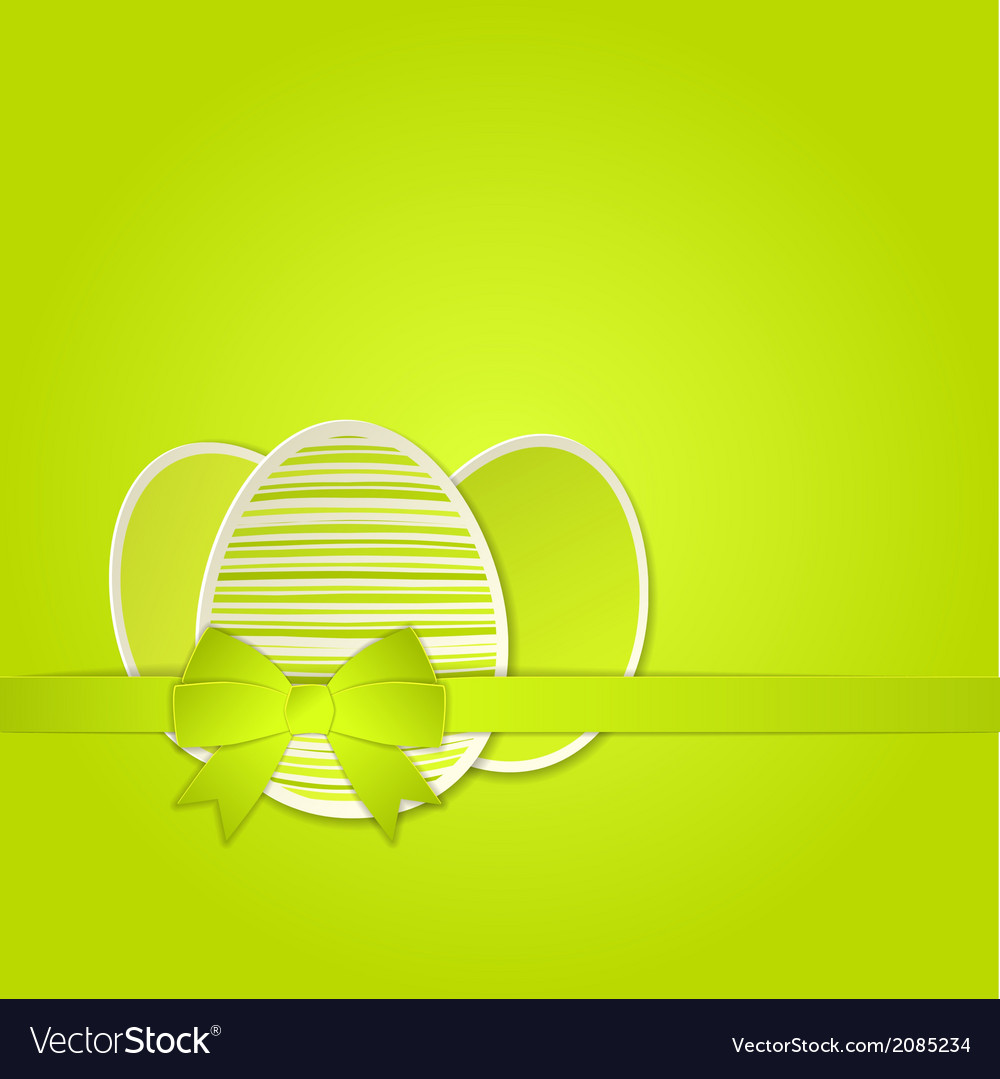 Easter egg with a bow template vector | Price: 1 Credit (USD $1)