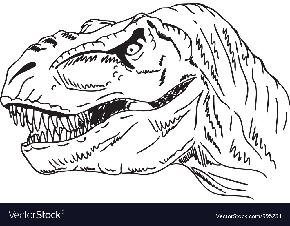 Head dinosaur vector | Price: 1 Credit (USD $1)