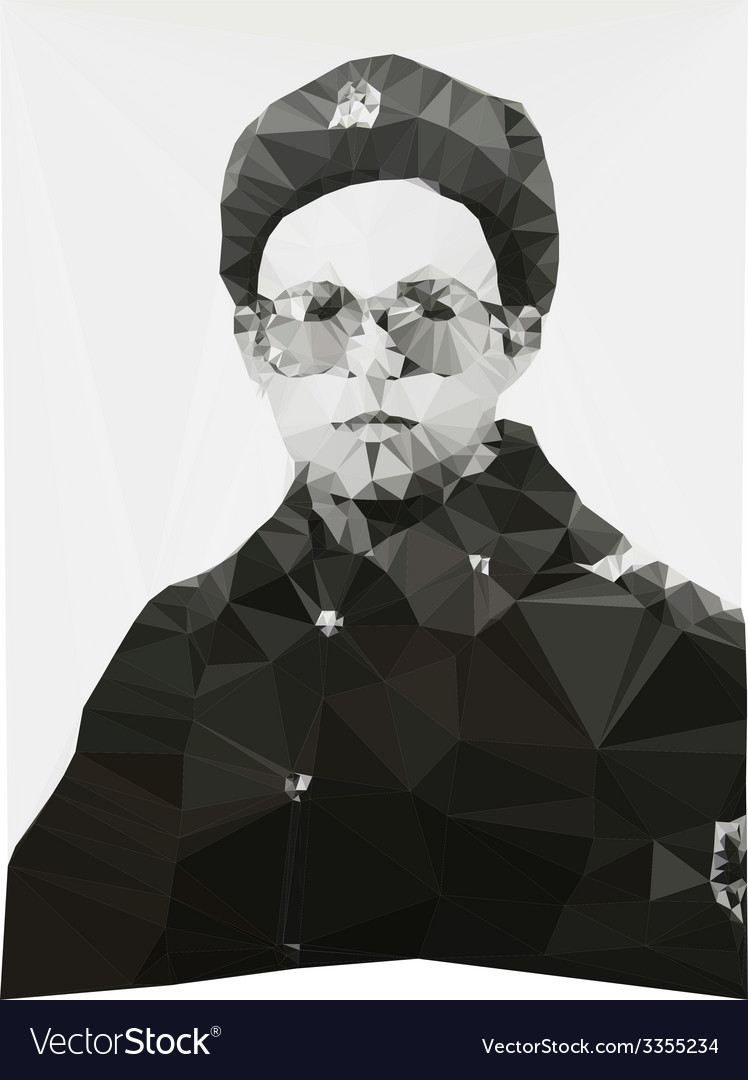 Russian soldier portrait winter form geometric vector | Price: 1 Credit (USD $1)