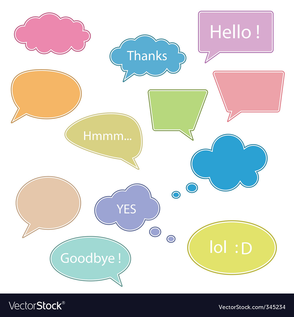 Set of talking bubbles vector | Price: 1 Credit (USD $1)