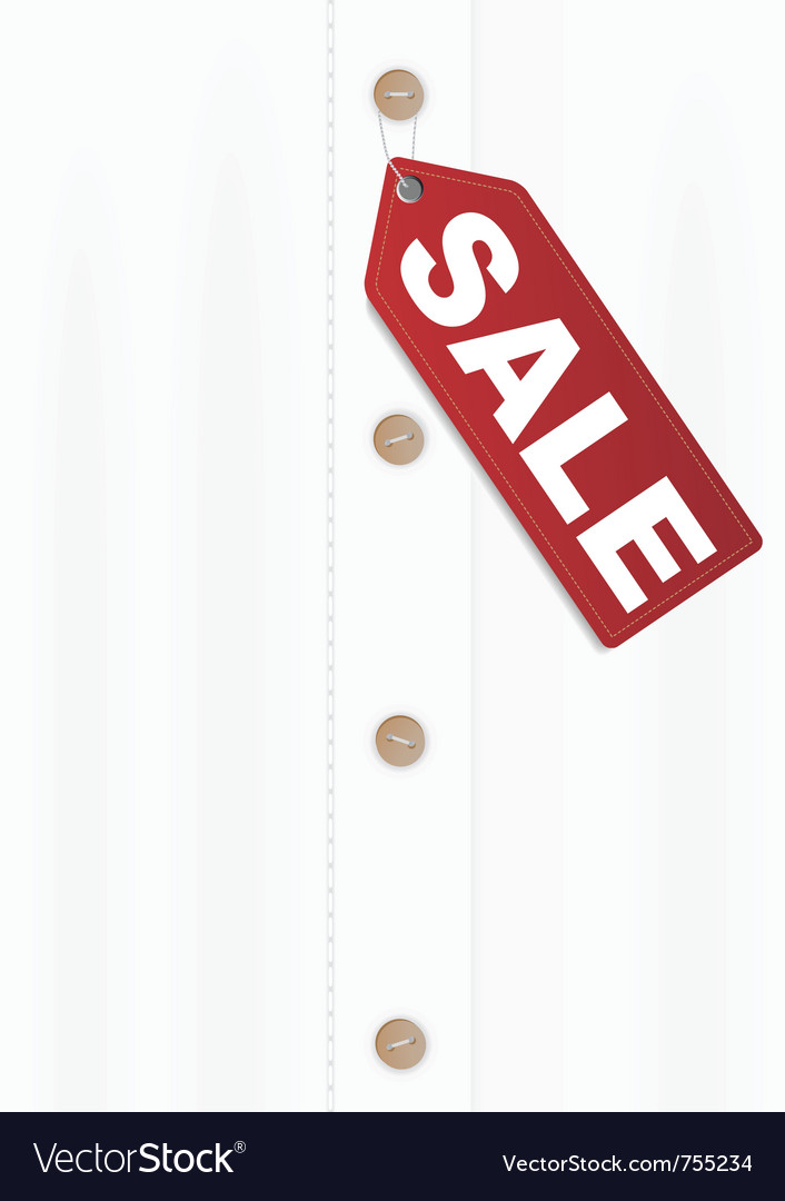 Shirt with sale tag vector   Price: 1 Credit (USD $1)