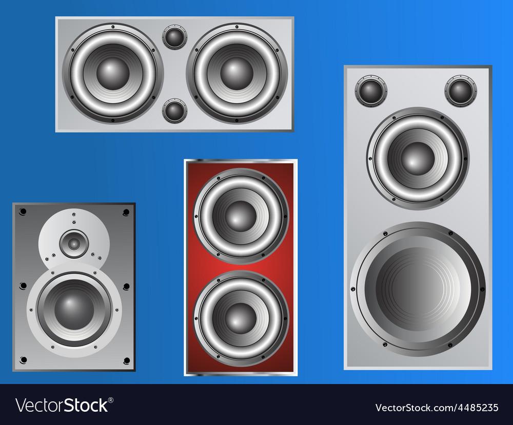 4 loudspeakers 4 vector | Price: 1 Credit (USD $1)