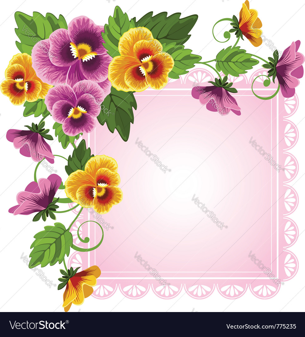 Background with pansy vector | Price: 1 Credit (USD $1)