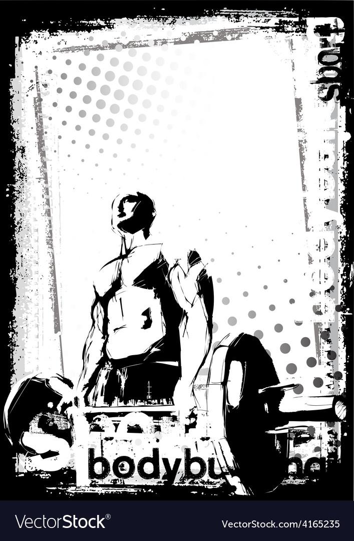 Bodybuilding poster vector | Price: 1 Credit (USD $1)