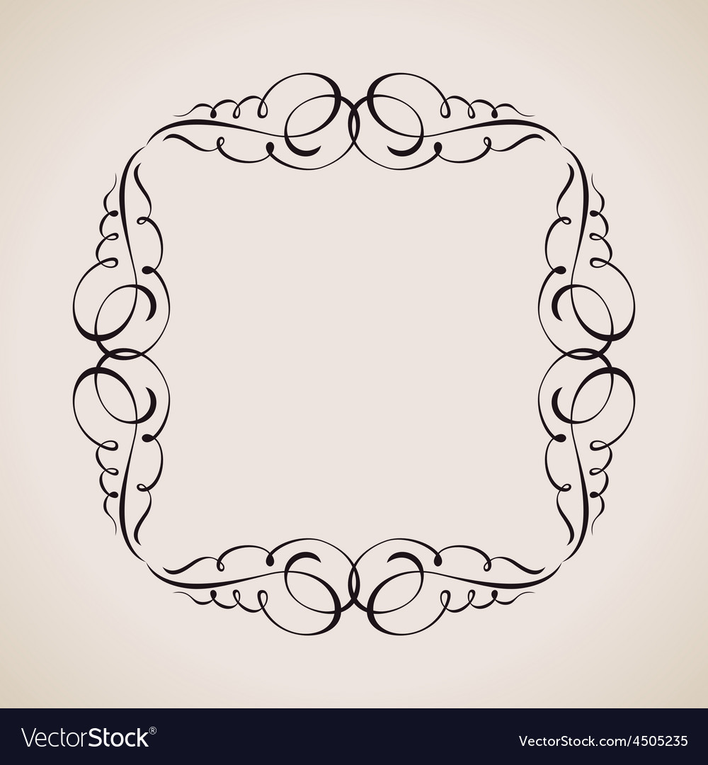 Calligraphic frame and page decoration vintage vector | Price: 1 Credit (USD $1)