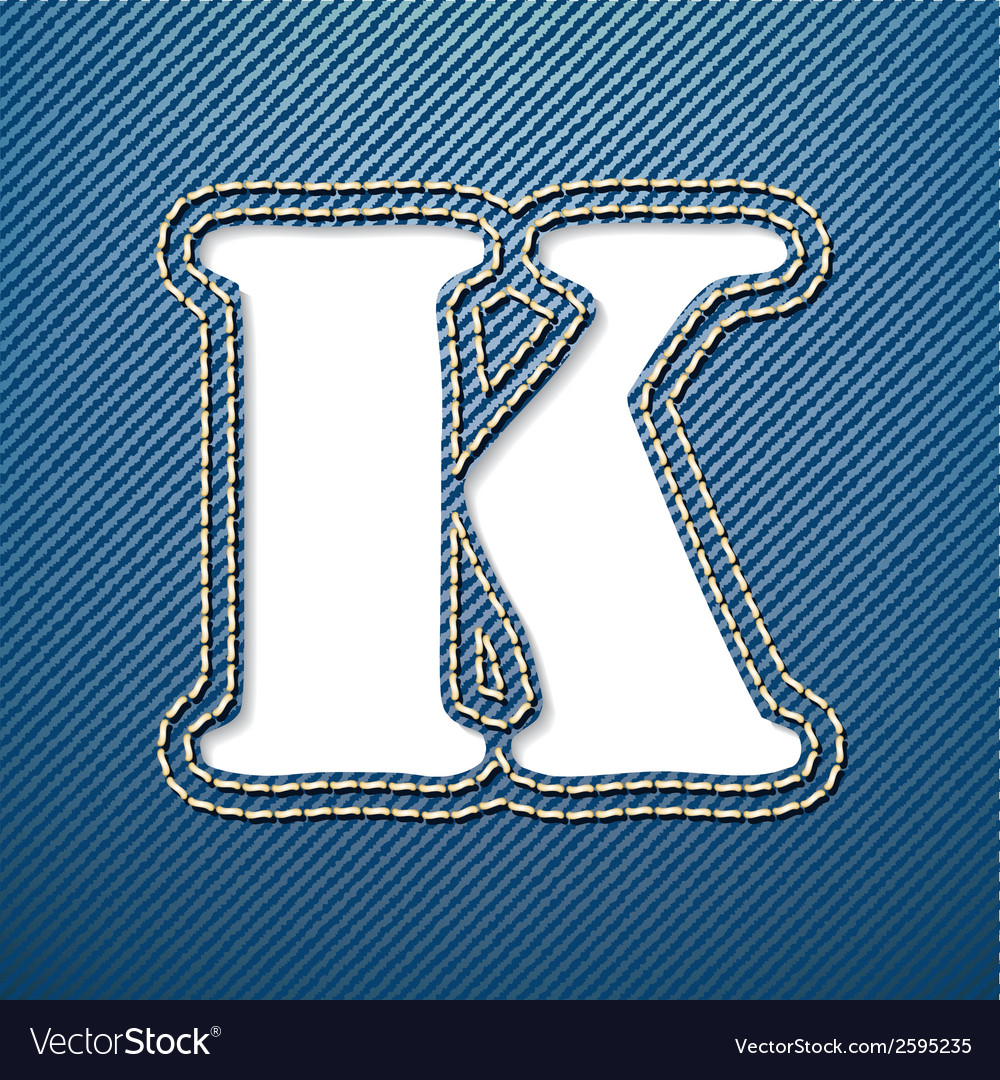 Denim jeans letter k vector | Price: 1 Credit (USD $1)