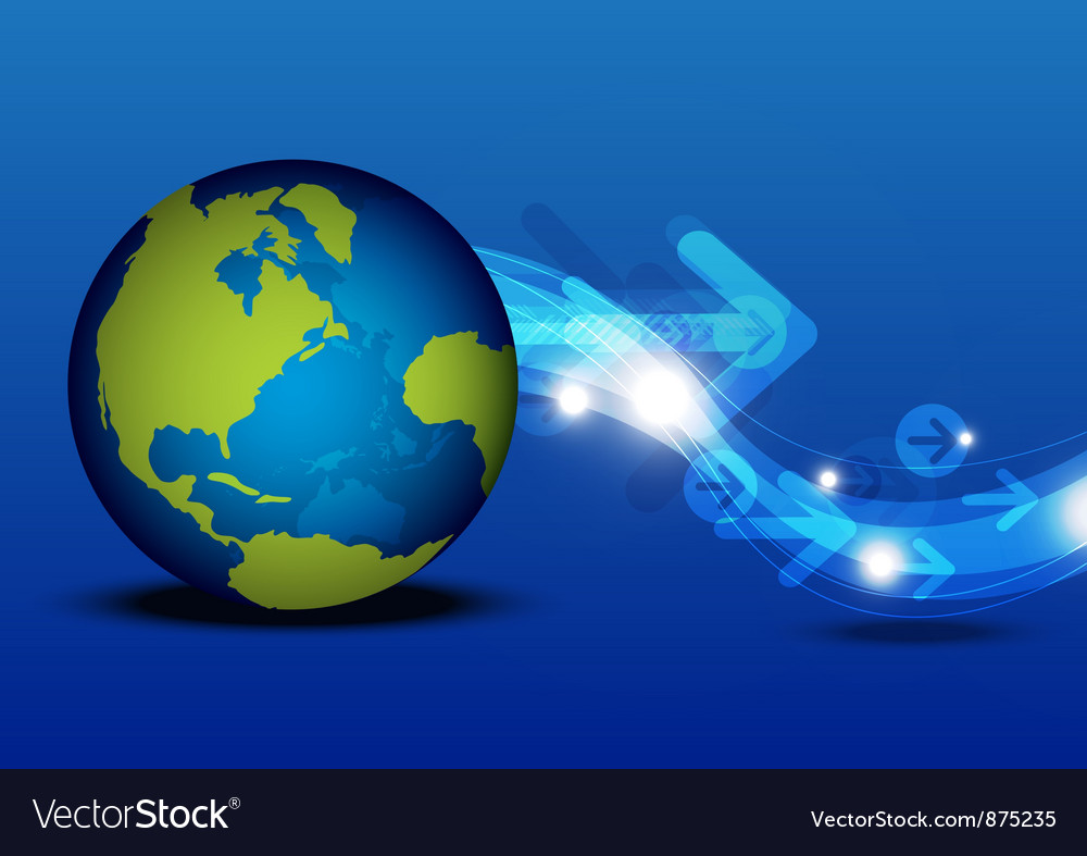 Global communication technology concept vector | Price: 1 Credit (USD $1)