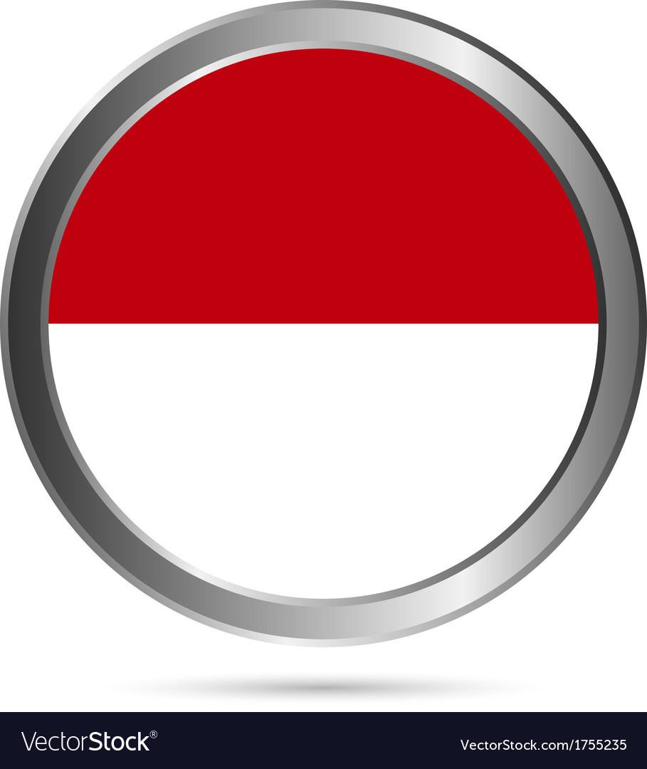 Indonesia flag button vector | Price: 1 Credit (USD $1)