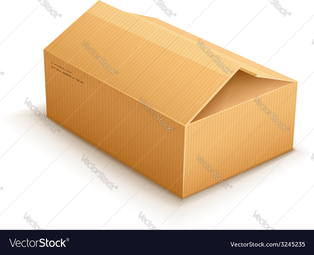 Opening cardboard delivery vector | Price: 1 Credit (USD $1)